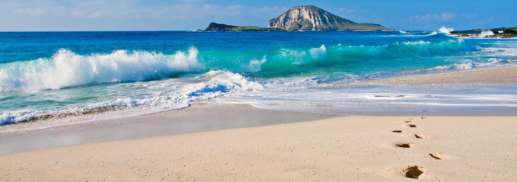 Zonder kalknagels en voetschimmel op strand