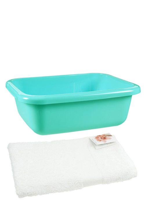 voetenteil en handdoek