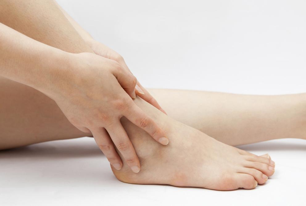 opgezette voeten
