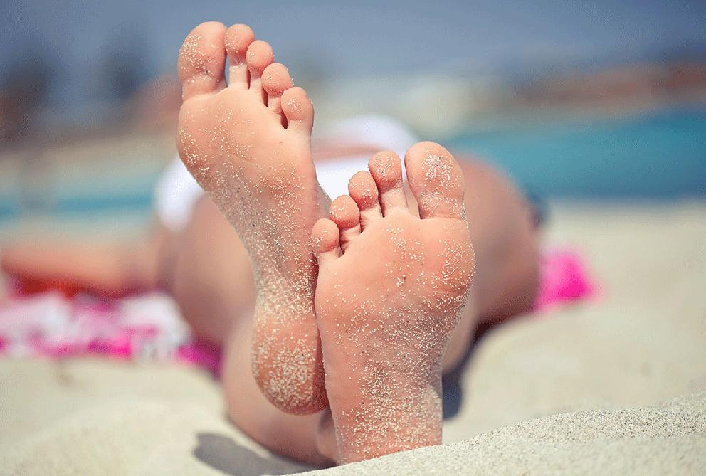 droge voeten